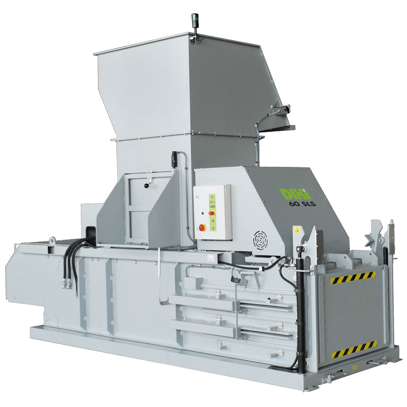 Semi automatic waste baler