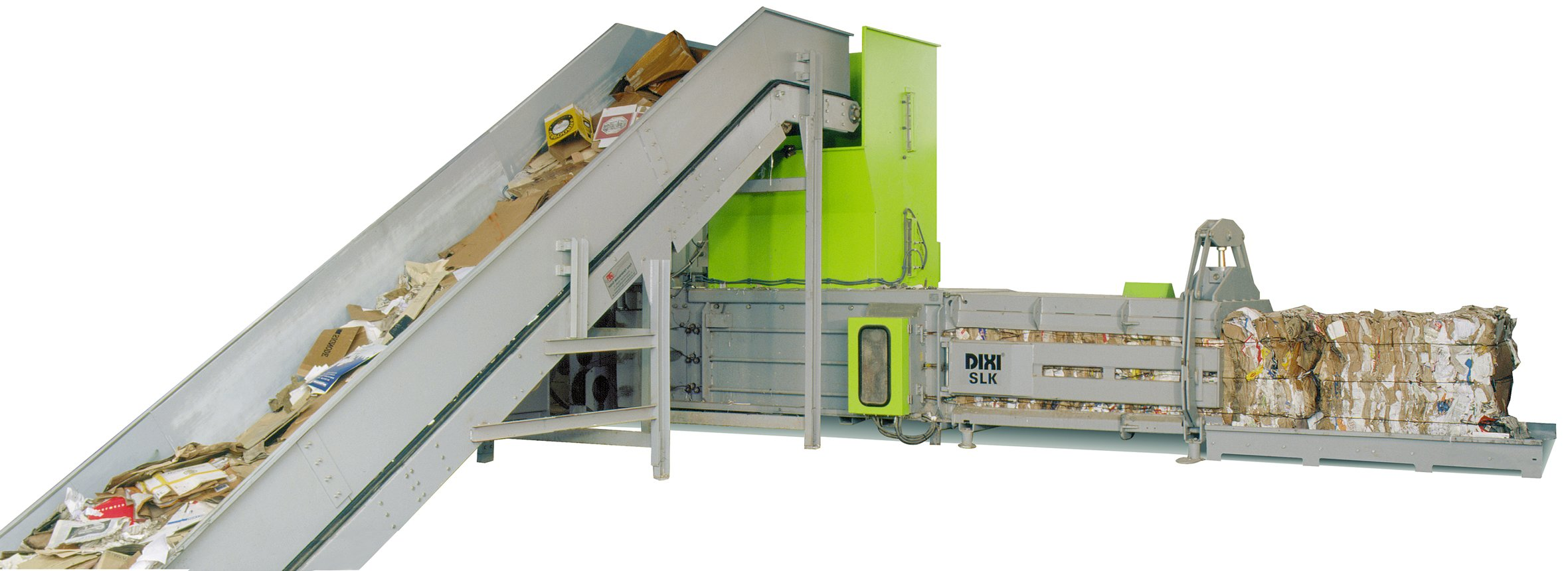 Fully automatic waste baler